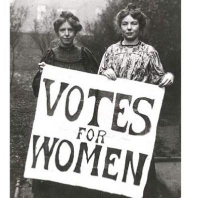 suffragettesholdingsign