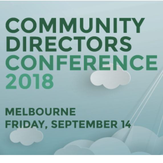 Community directors conference | 14 Sept, Melbourne