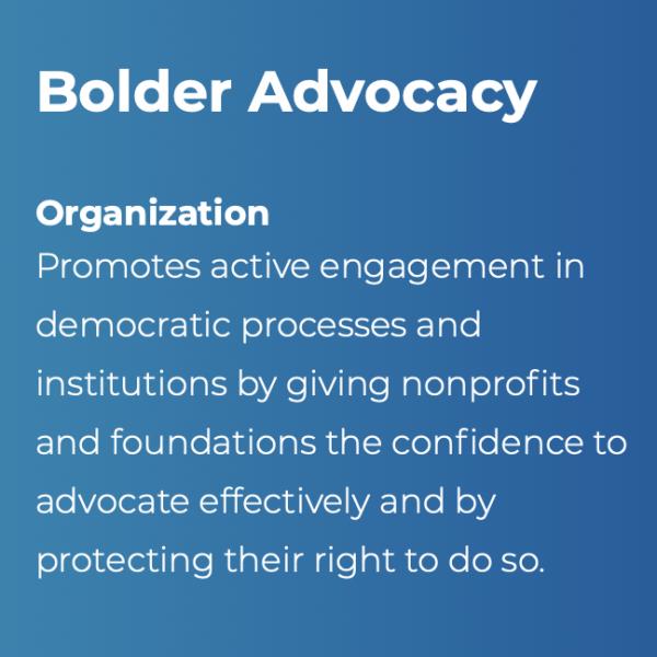 bolder advocacy